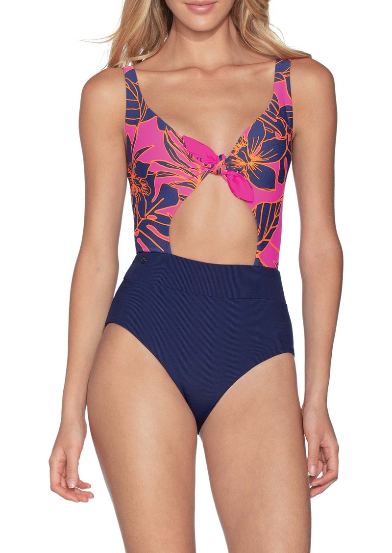 Maaji Blueberry Sherbet Reversible One-Piece Swimsuit