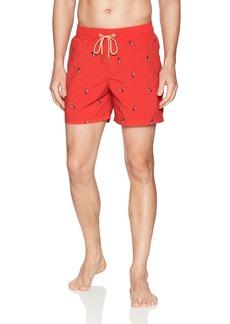 "Maaji Men's Embroidered Mid Length Swimsuit Trunks 6"" Inseam"