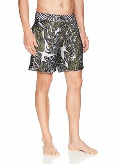 "Maaji Men's Fixed Waist Long Length Boardshort Swimsuit Trunks 9"" Inseam"