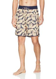 "Maaji Men's Printed Elastic Waist Long Length Swimsuit Trunks 9"" Inseam"