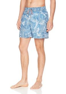 "Maaji Men's Reversible Printed Mid Length Swimsuit Trunks 6"" Inseam"