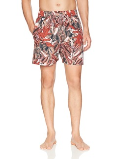 "Maaji Men's Reversible Printed Mid Length Swimsuit Trunks 6"" Inseam  Extra Large"