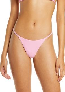 Maaji Rose Lemonade Micromini Reversible Bikini Bottoms