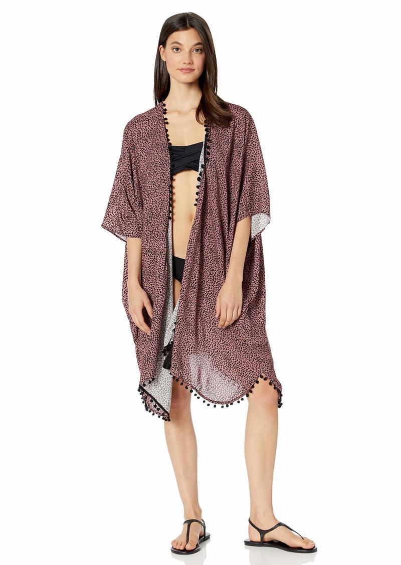 Maaji Women's Printed Kimono Pom Cover Up