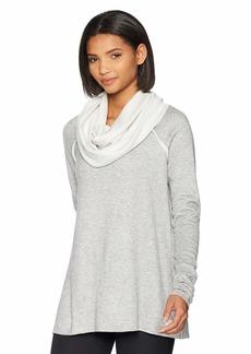 Maaji Women's Swing Solid Long Sleeve Layer Top with Oversize Cowel Neck  Gray