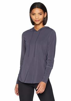 Maaji Women's Waves Solid Hooded Long Sleeve Layer Top