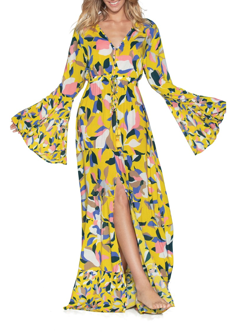 Maaji Yellow Anemone Cover-Up Maxi Dress