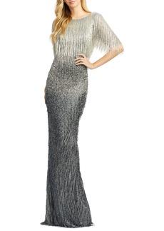 Women's MAC Duggal Beaded Fringe Gown