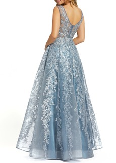 Women's MAC Duggal Floral Embroidered & Embellished A-Line Gown