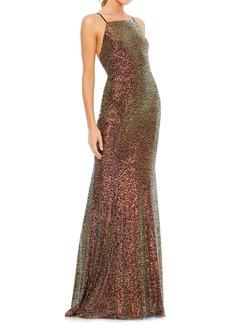 Women's MAC Duggal Iridescent Sequin Gown