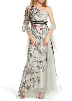 Women's MAC Duggal One-Shoulder Asymmetrical Embroidered Gown