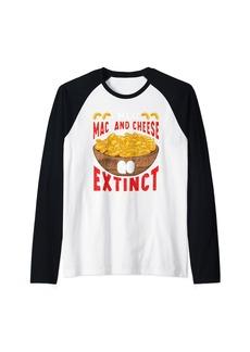 Mac and Cheese Inspired Macaroni Lover Related Cheese Eater Raglan Baseball Tee