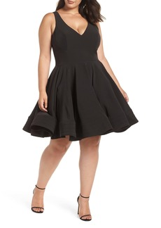 Mac Duggal Fit & Flare Party Dress (Plus Size)