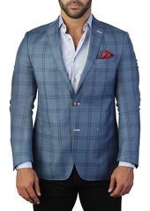 Maceoo Algebra Check Two Button Tailored Fit Suit Separate Blazer