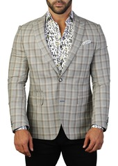 Maceoo Beethoven Plaid Two Button Tailored Fit Suit Separate Blazer