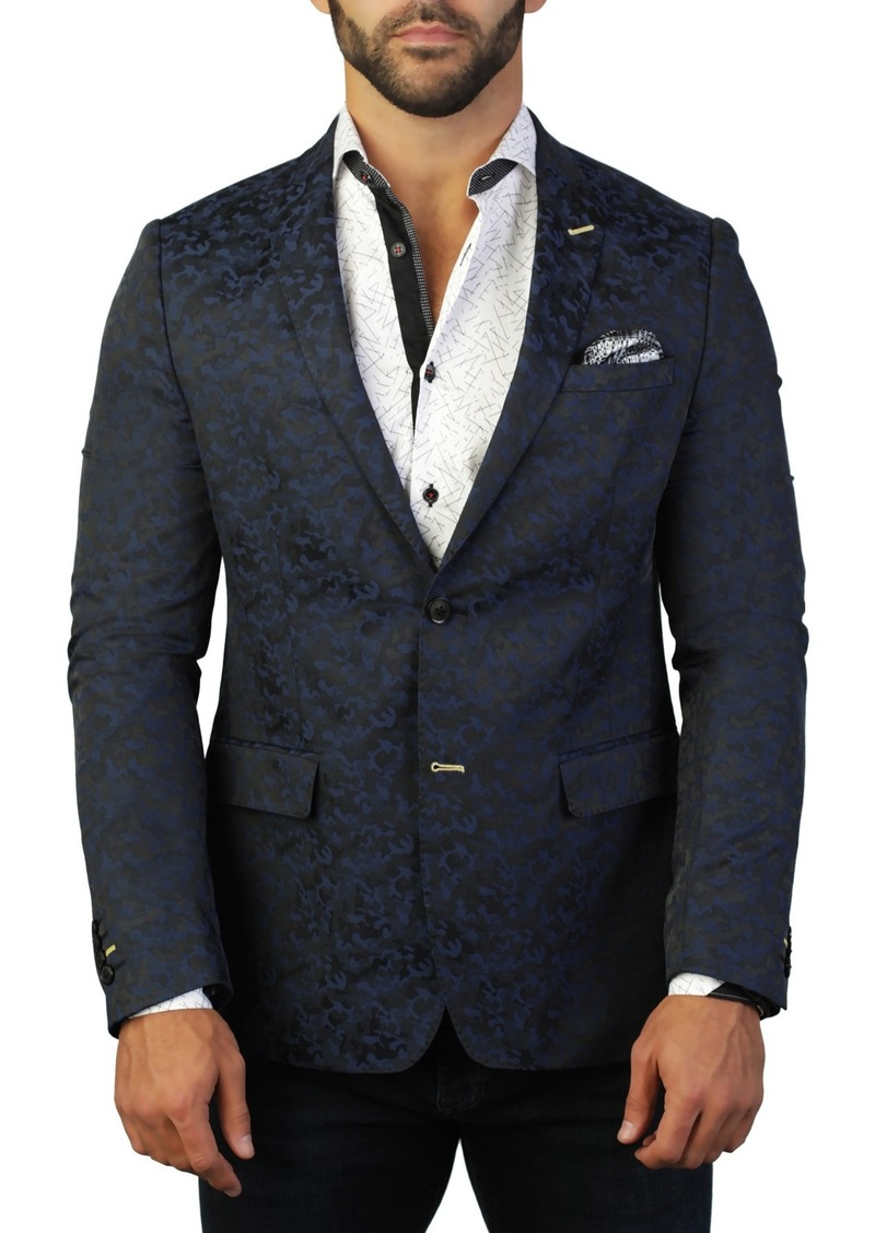 Maceoo Descartes Armee Two Button Tailored Fit Suit Separate Blazer