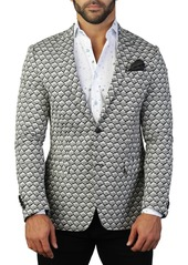 Maceoo Descartes Chain Two Button Tailored Fit Suit Separate Blazer