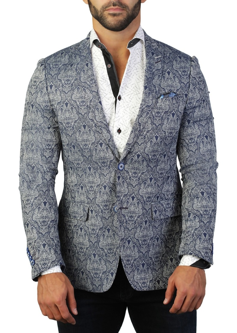 Maceoo Descartes Embleme Two Button Tailored Fit Suit Separate Blazer