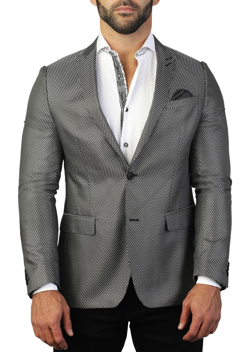 Maceoo Descartes Left Arrow Two Button Tailored Fit Suit Separate Blazer