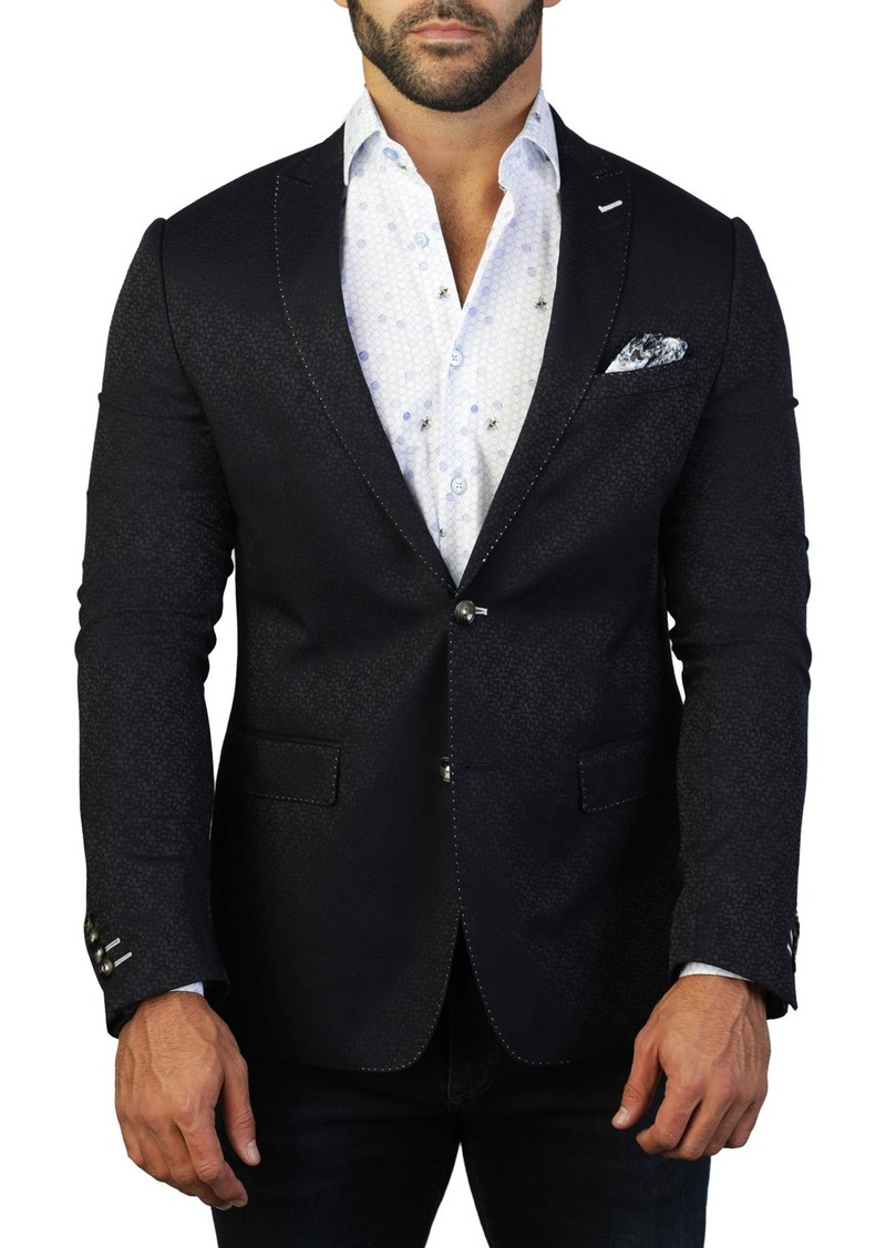 Maceoo Descartes Rebuilt Two Button Tailored Fit Suit Separate Blazer