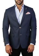 Maceoo Descartes Tonal Diamond Two Button Tailored Fit Suit Separate Blazer