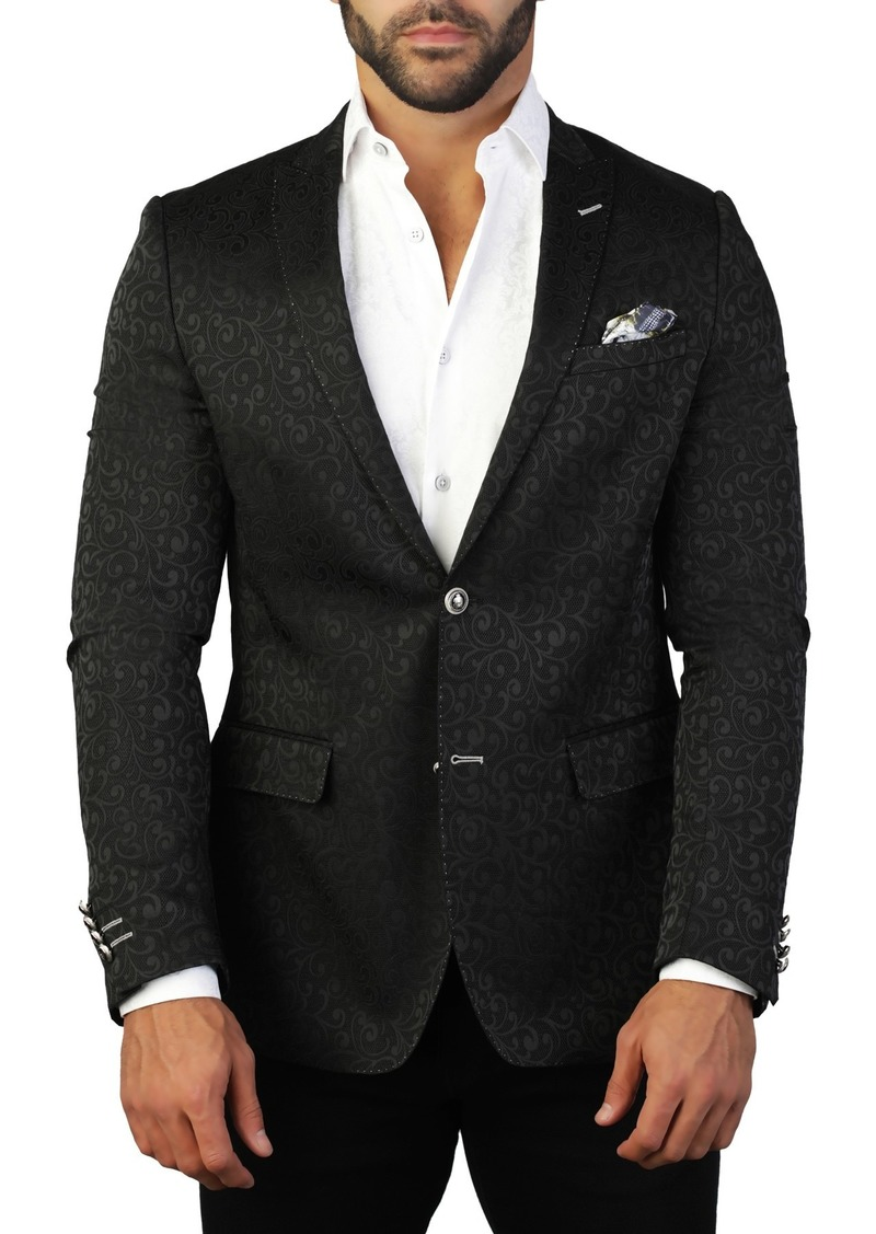 Maceoo Descartes Tonal Two Button Tailored Fit Suit Separate Blazer