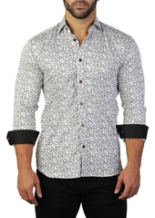 Maceoo Fibonacci House Print Tailored Fit Dress Shirt