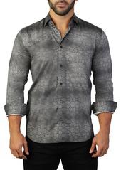 Maceoo Fibonacci Mosaic Print Tailored Fit Dress Shirt