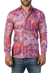 Maceoo Fibonacci Picasso Print Tailored Fit Dress Shirt