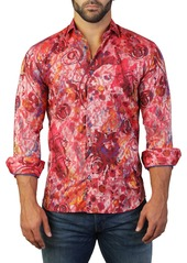 Maceoo Fibonacci Print Tailored Fit Dress Shirt