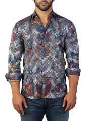 Maceoo Fibonacci Print Tailored Fit Dress Shirt