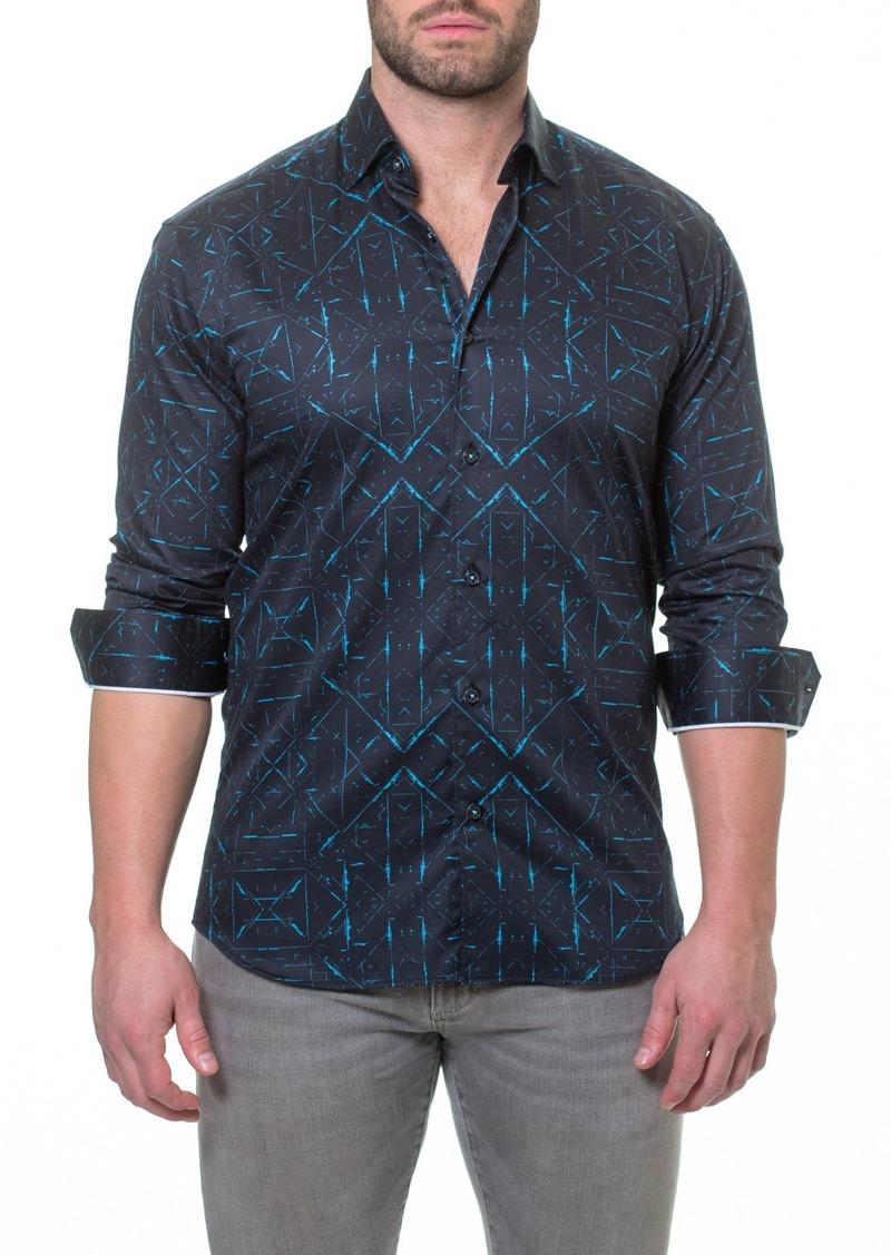 Maceoo Luxor Sketch Black Slim Fit Shirt