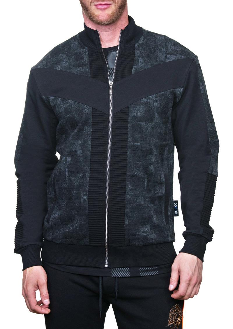 Maceoo Camo Blue Regular Fit Zip Jacket