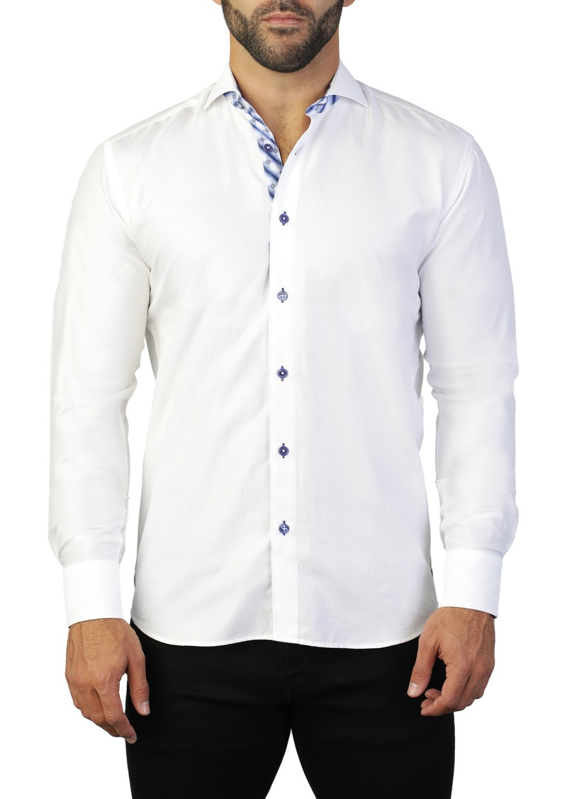 Maceoo Einstein Ceremony White Regular Fit Shirt