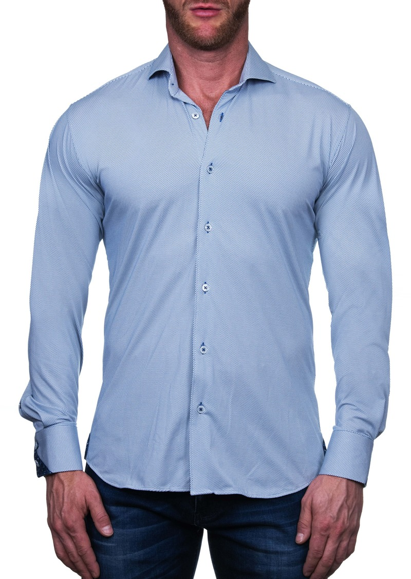 Maceoo Einstein Diamond Regular Fit Button-Up Shirt
