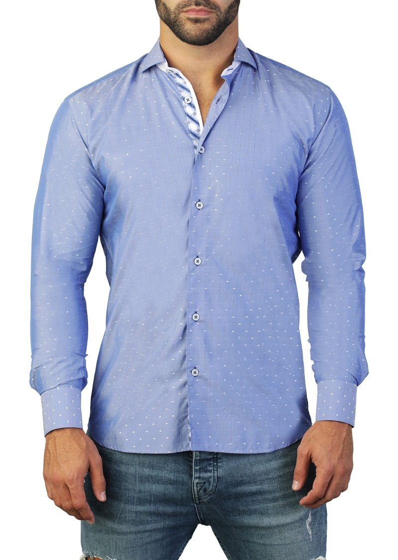 Maceoo Einstein Dot Blue Regular Fit Shirt