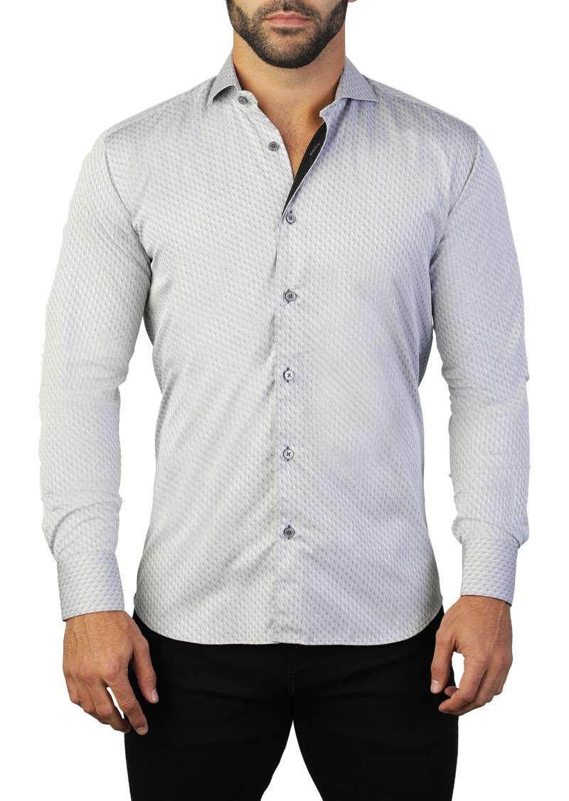 Maceoo Einstein Grey Regular Fit Shirt
