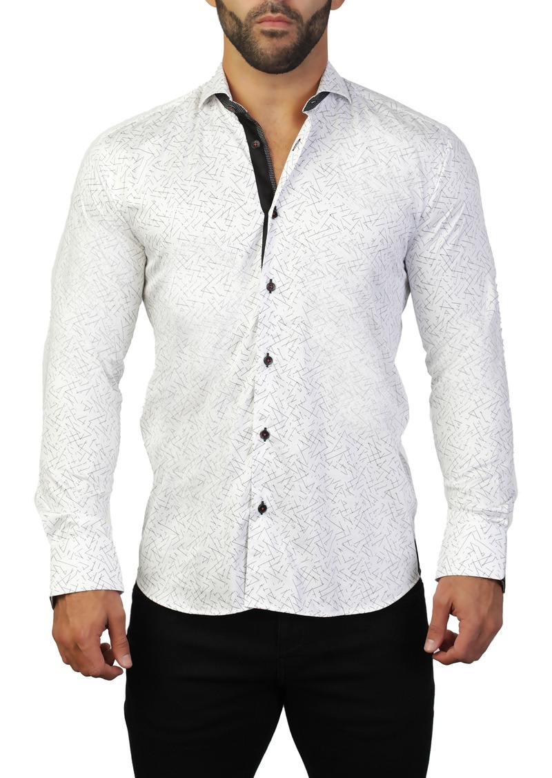 Maceoo Einstein Line White Regular Fit Shirt
