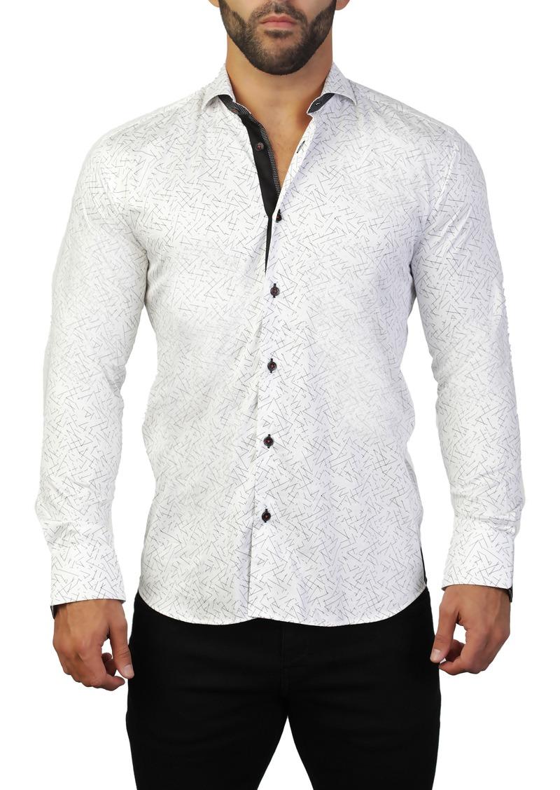 Maceoo Einstein Line White Regular Fit Shirt