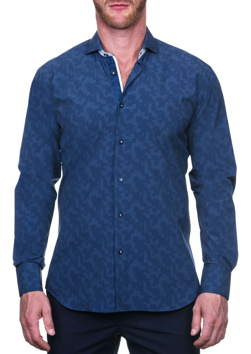 Maceoo Einstein Linedot Regular Fit Button-Up Shirt