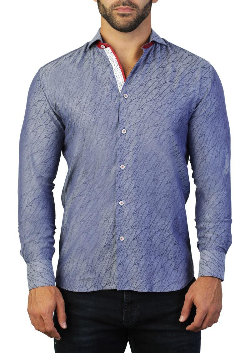 Maceoo Einstein Path Blue Regular Fit Shirt