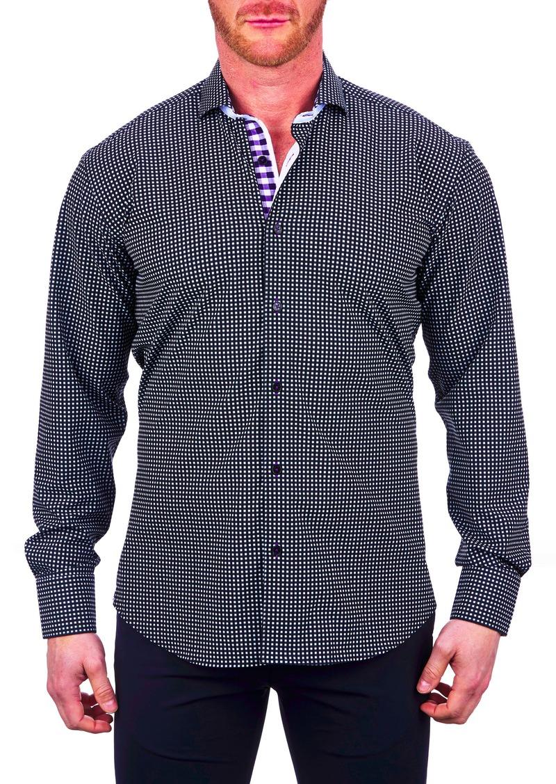Maceoo Einstein Regular Fit Check Stretch Button-Up Shirt