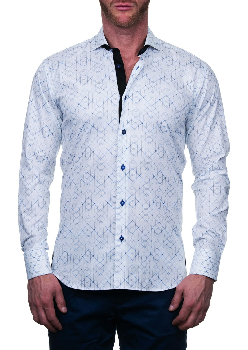Maceoo Einstein Regular Fit Geo Print Button-Up Shirt