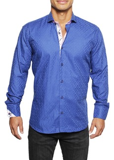 Maceoo Einstein Regular Fit Geometric Button-Up Shirt