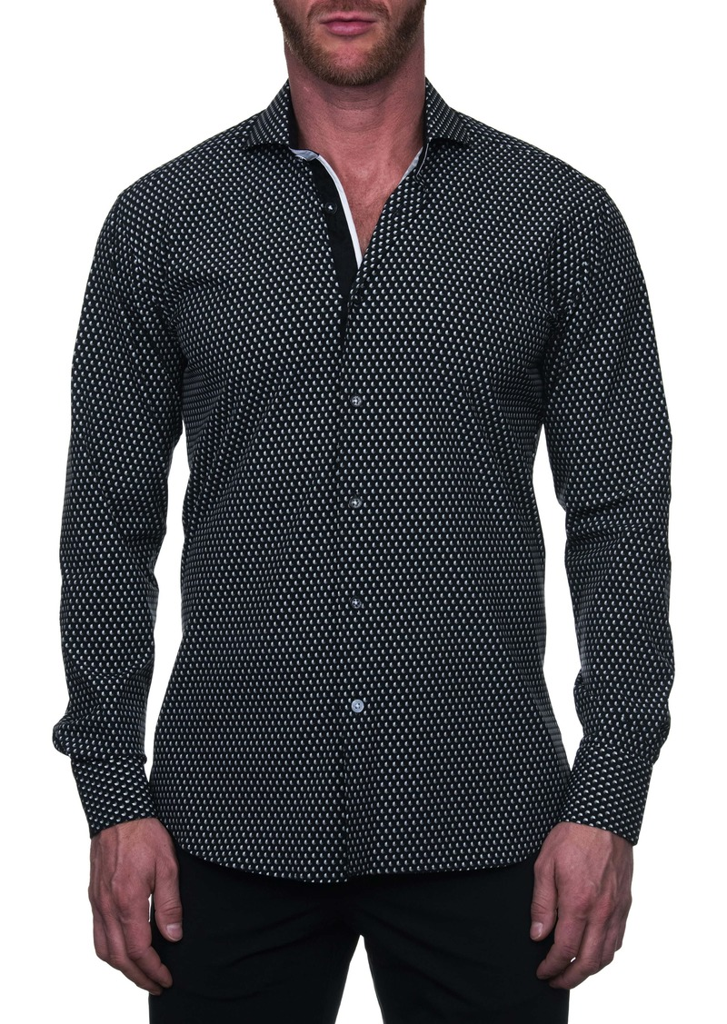 Maceoo Einstein Regular Fit Hexagon Button-Up Shirt