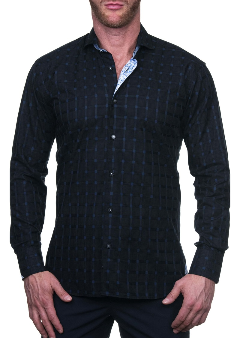 Maceoo Einstein Regular Fit Jail Blue Button-Up Shirt