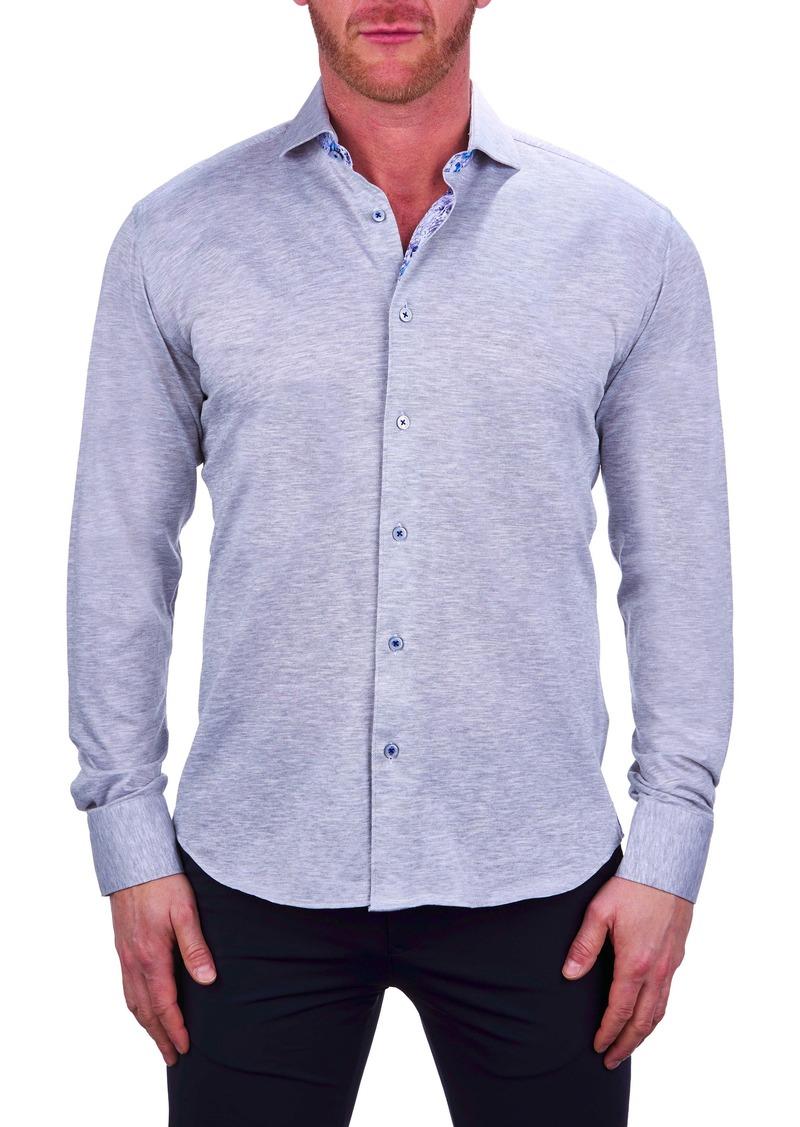Maceoo Einstein Regular Fit Jersey Button-Up Shirt