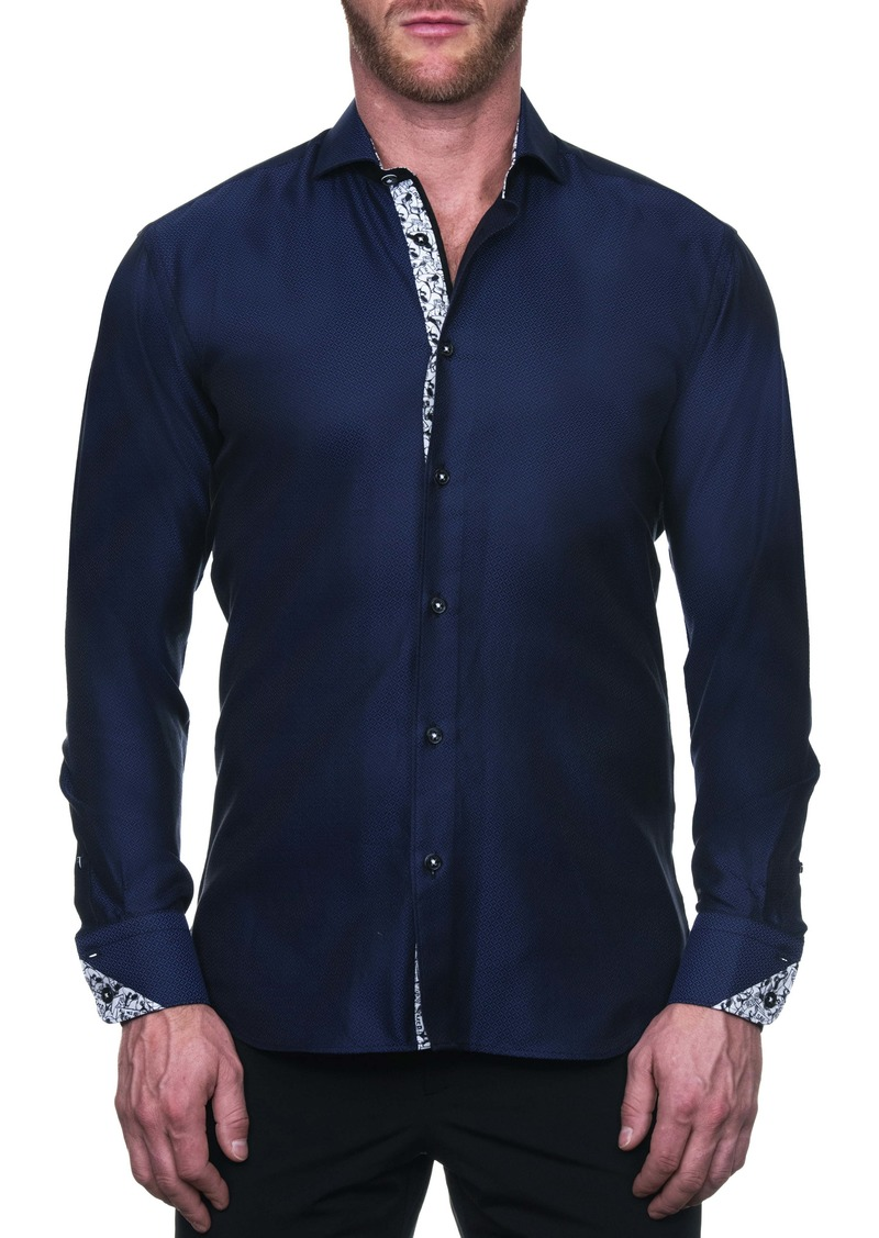 Maceoo Einstein Regular Fit Mesh Button-Up Shirt