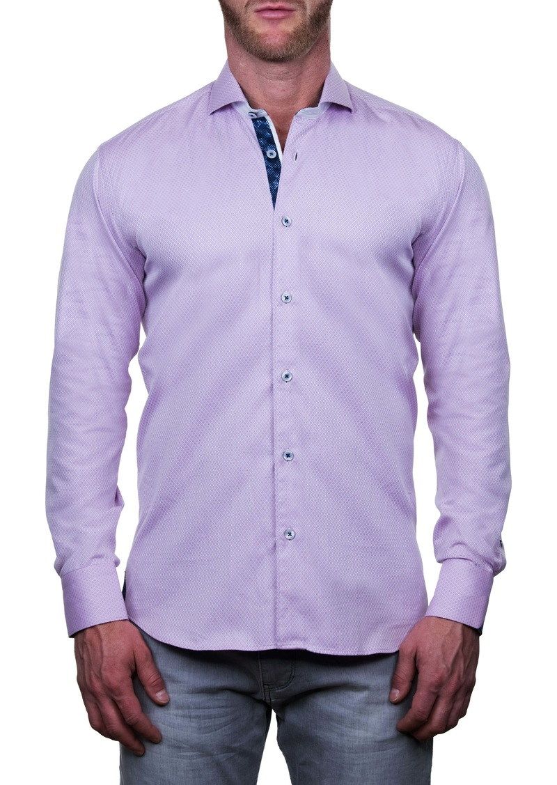 Maceoo Einstein Regular Fit Micro Print Button-Up Shirt