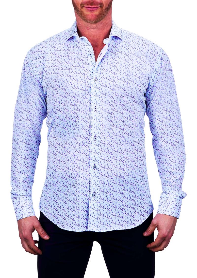 Maceoo Einstein Regular Fit Paisley Stretch Button-Up Shirt